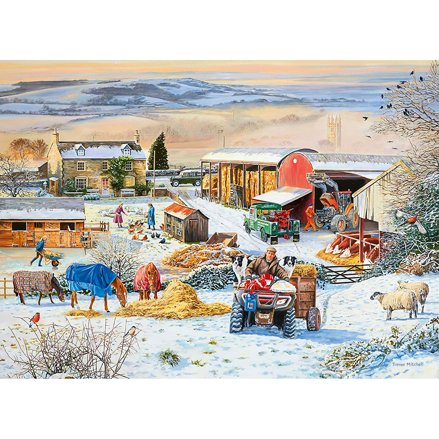 Ravensburger: Winter On The Farm 1000 Piece Puzzle
