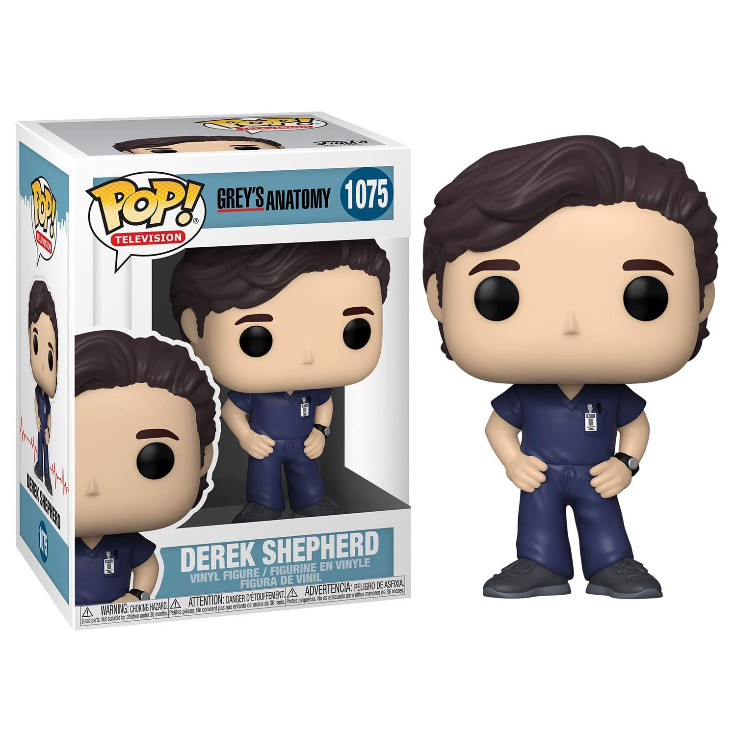 Grey's Anatomy Pop! Television Vinyl Figure - Derek Shepherd