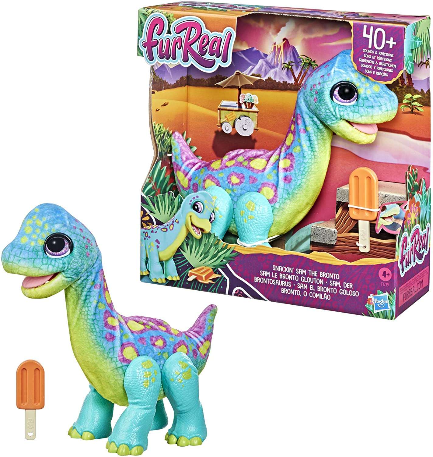 furReal Snackin' Sam The Bronto Interactive Toy