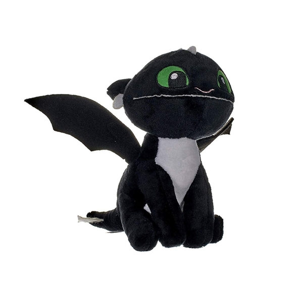 How To Train Your Dragon The Hidden World 18cm Plush Night Light Black (Green Eyes)