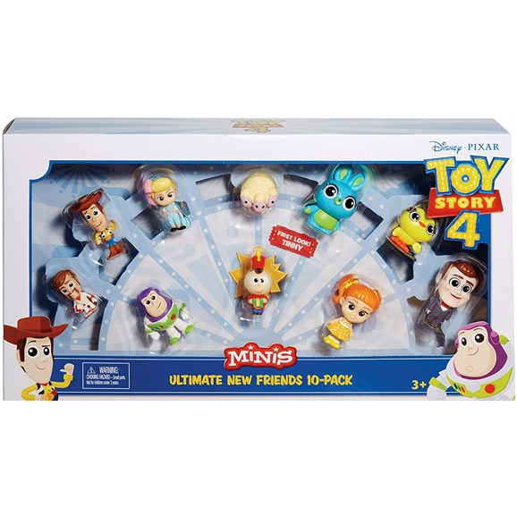Disney Pixar Toy Story 4 Minis - Ultimate New Friends 10 Figure Pack