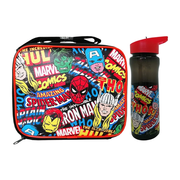Marvel Comics Polar Gear Lunch Bag and Drinks Bottle