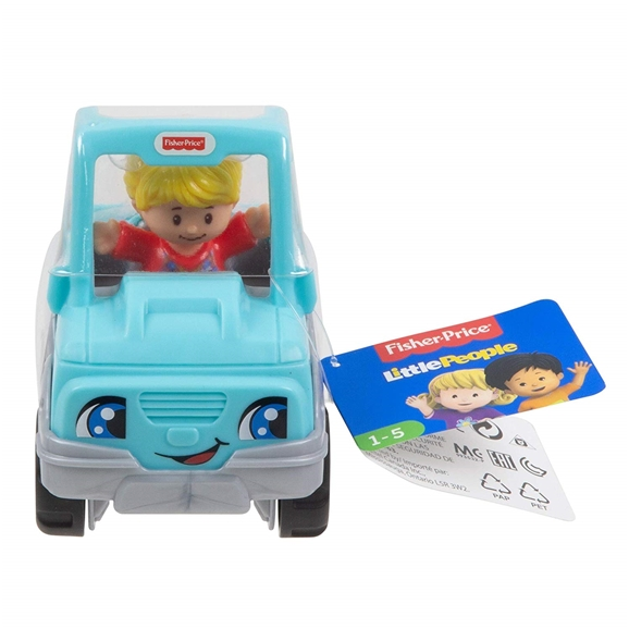 Fisher-Price Little People Small Vehicle - Help A Friend Blue Pick-Up Truck