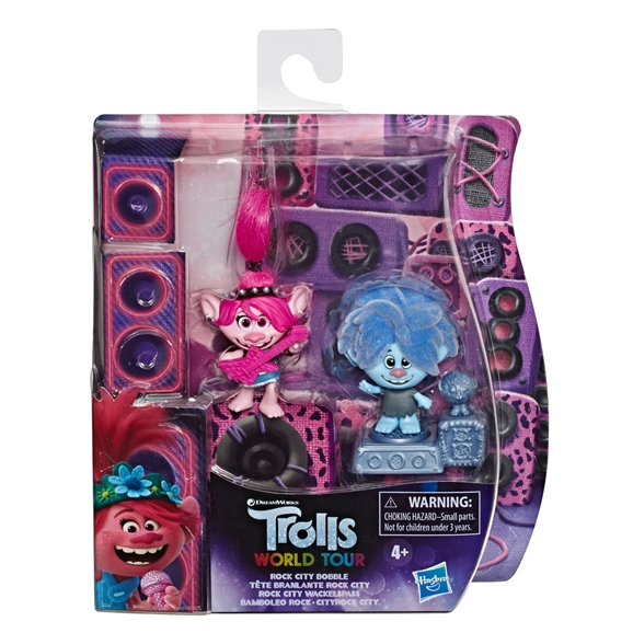 DreamWorks Trolls World Tour - Rock City Bobble with 2 Figures