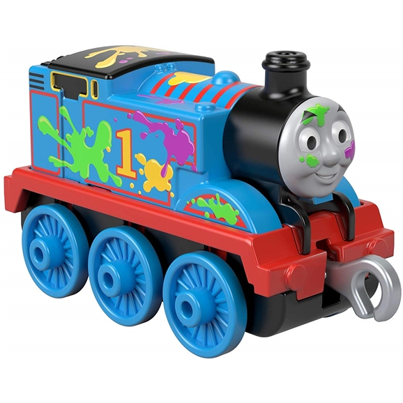 Thomas & Friends TrackMaster Push Along Die-cast Vehicle - Paint Splat Thomas