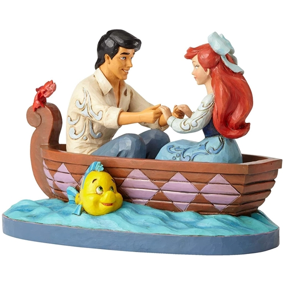 Disney Traditions Figurine - Waiting For A Kiss (Ariel & Prince Eric)