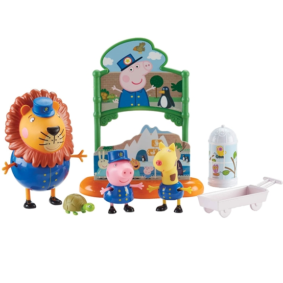 Peppa Pig Themed Playset - Peppa's Day At The Zoo