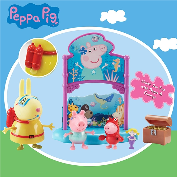 Peppa Pig Themed Playset - Peppa's Under The Sea Party