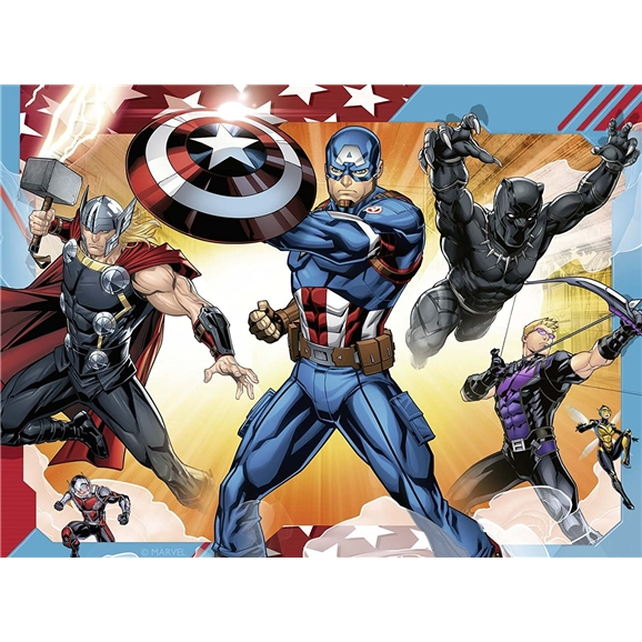 Ravensburger Puzzle: Marvel Avengers 4 in a Box