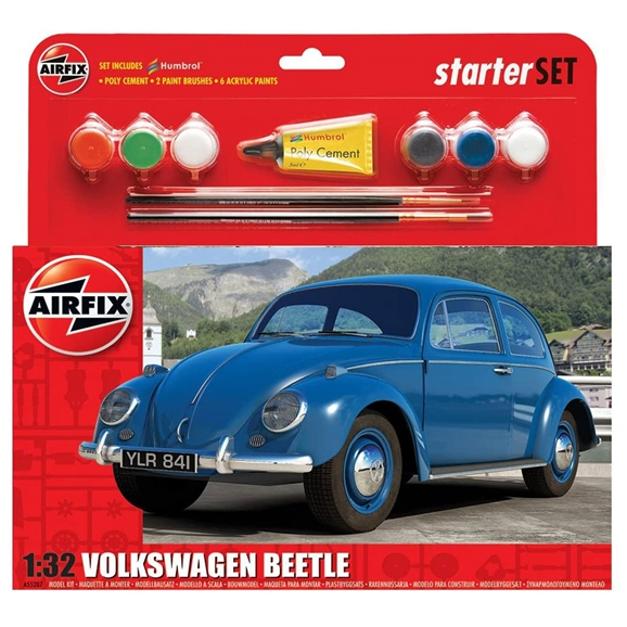 Airfix Medium Starter Set 1:32 Scale: Volkswagen Beetle (A55207)