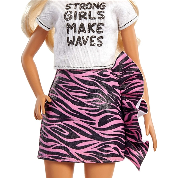 Barbie Fashionistas Doll - #148 Long Blonde Hair & Animal Print Skirt