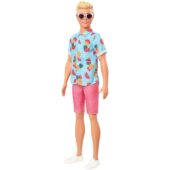Barbie - Ken Fashionistas Doll - Blonde Hair & Tropical Print Shirt #152