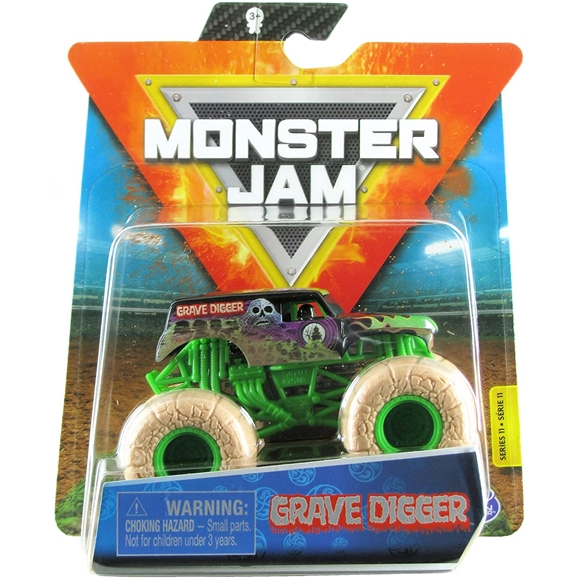 Monster Jam Official 1:64 Scale Die-Cast Truck - Grave Digger (Elementals)