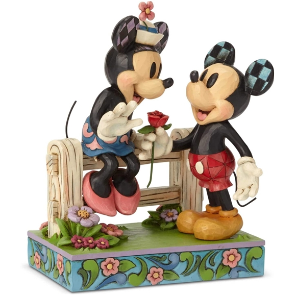 Disney Traditions Figurine - Blossoming Romance (Mickey Mouse and Minnie Mouse)