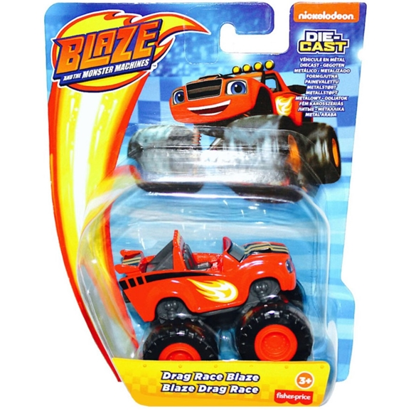 Blaze and the Monster Machines Diecast Vehicle - Drag Race Blaze