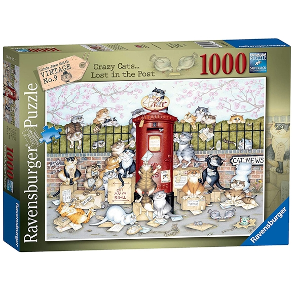Ravensburger: Crazy Cats Lost In The Post 1000 Piece Puzzle