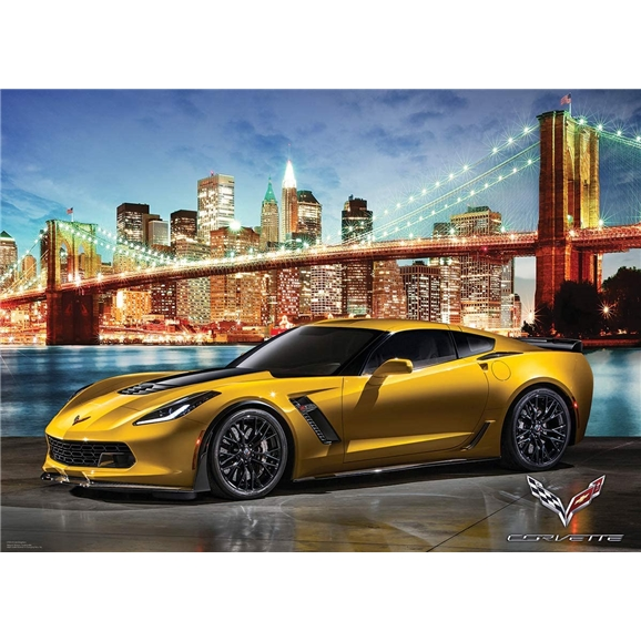 Eurographics: Corvette Z06 Out for a Spin 1000 Piece Puzzle