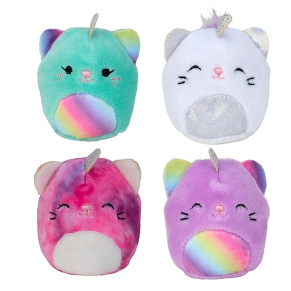 Squishville 5cm Mini Squishmallow 4 Pack Caticorn Squad