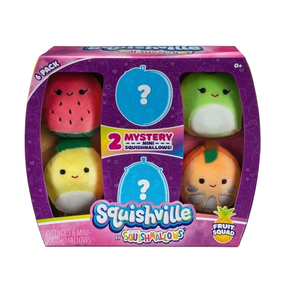 Squishville 5cm Mini Squishmallow 6 Pack Fruit Squad
