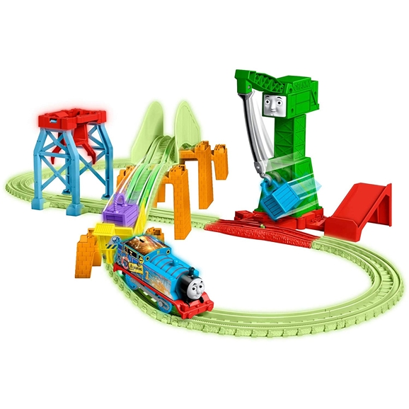 Thomas & Friends Motorized Hyper Glow Night Delivery Set