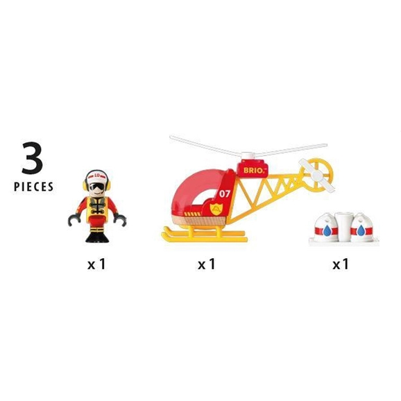 BRIO World - Firefighter Helicopter (33797)