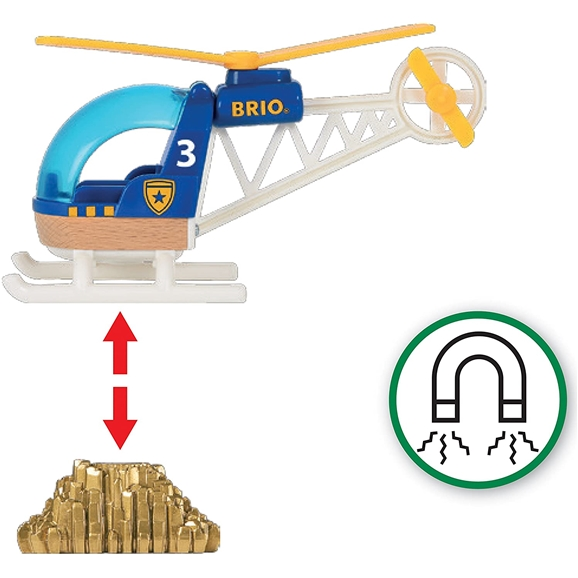 BRIO World - Police Helicopter (33828)